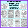 Personalised Adult Colouring - Swearing