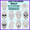 Personalised Adult Colouring - Sugar Skulls