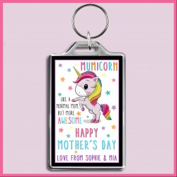 Personalised Mumicorn - Awesome Mum Large Key Ring