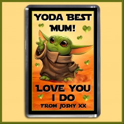 Personalised Yoda Best Mum Magnet