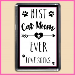 Personalised Best Cat Mum Ever Magnet