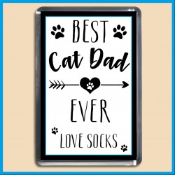 Personalised Best Cat Dad Ever Magnet