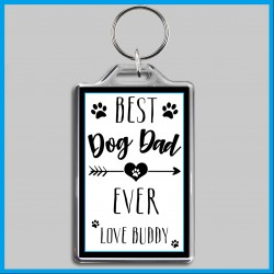 Personalised Best Dog Dad Ever Large Key Ring