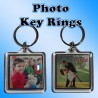 Personalised Photo Square Key Ring