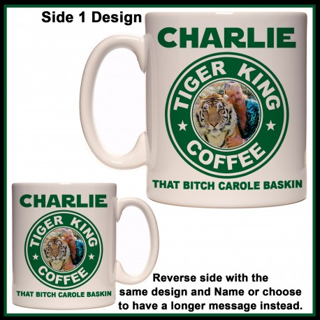 Personalised Tiger King Coffee Mug