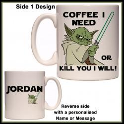 Personalised Yoda - Coffee I Need Mug