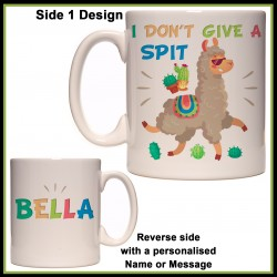 Personalised Llama - I Don't Give a SPIT Mug