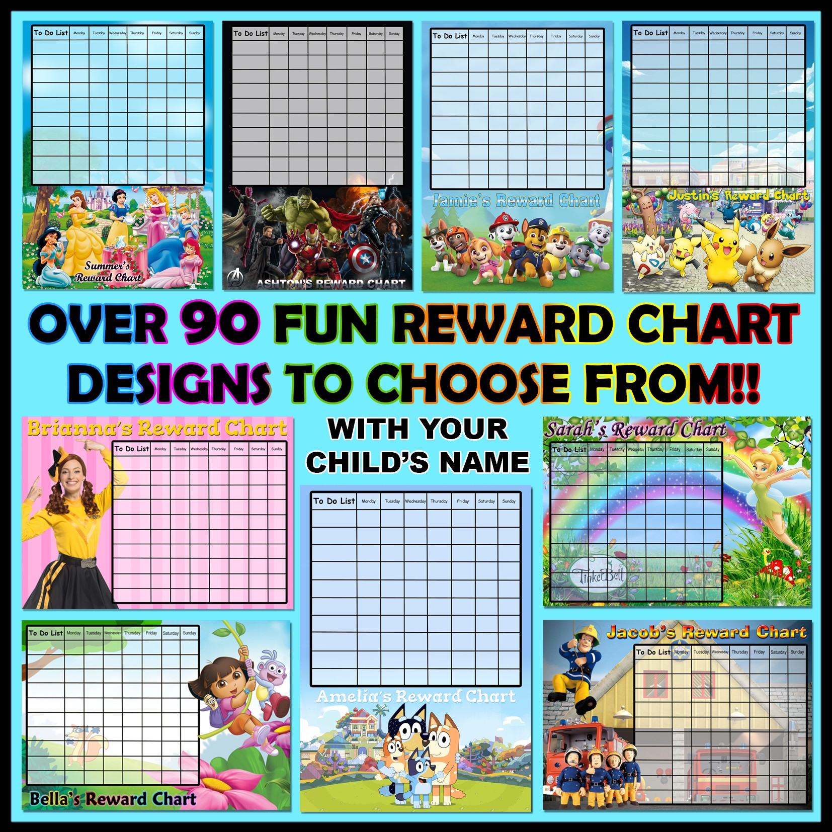 Personalised Kid S Reward Chart Personalise It Products