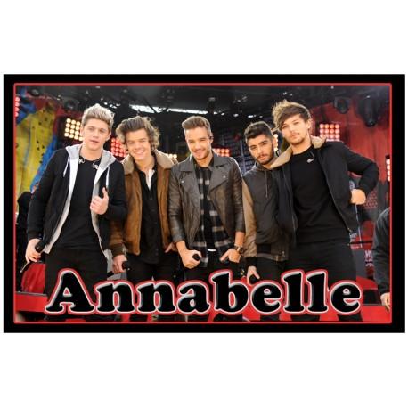 Personalised One Direction Fridge Magnet